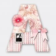 Decorated Letter A for Girls