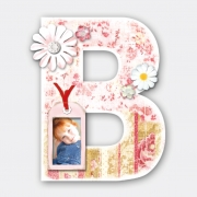 Decorated Letter B for Girls